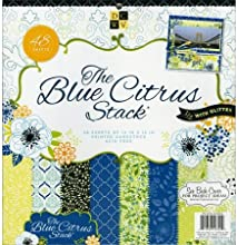 Diecuts With A View PS005283 Paper Stack 12X12 48Pkg-Blue Citrus