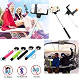 VersionTech Black 3.5mm Wired Remote Selfie Stick Monopod Telescopic Extendable Handheld Pole Holder For iPhone 6 iPhone 6 Plus iPhone 5S 5C 5 4S 3GS Samsung Galaxy Note 4 3 2 1 Galaxy S5 S4 S3 S2 LG Flex G3 G3 Sony Xperia Z1 Z2 Z3 and Other 3.5mm 5.5