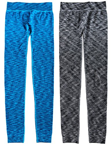 Caramel Cantina Juniors 2 Pack Tri Blend Leggings (Small/Medium Regular