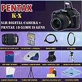 Pentax K-x Digital SLR (Black) with Pentax