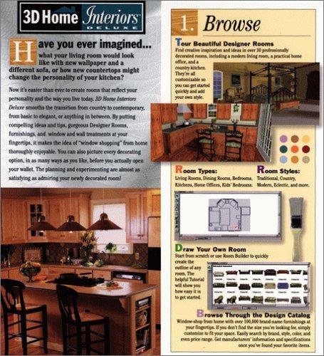 3 d home interiors deluxe 2 0 software computer software for Broderbund 3d home landscape design