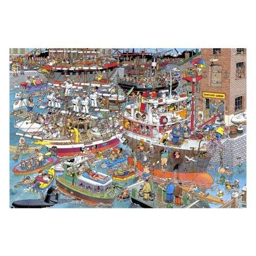 Cheap Jumbo J.V. Haasteren Crazy Harbour Jigsaw Puzzle 1500pc (B0002HYA6Q)