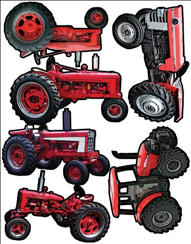 Themed Die Cut Assortment-Red Tractors