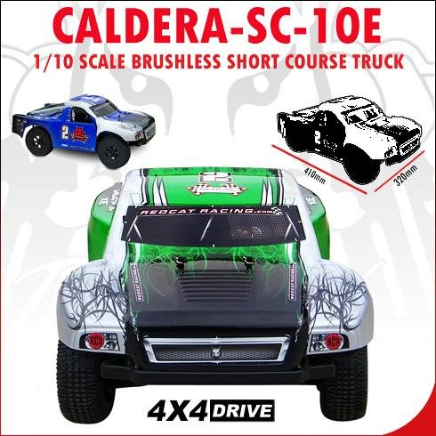 CALDERA-SC-10E ~ Short Course RC Truck ~ 1/10 Brushless Electric ~ NEW ITEM by Redcat Racing ~ GREEN