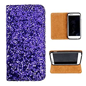 i-KitPit Sparkling PU Leather Flip Case For Samsung Galaxy Note 3 Neo (PURPLE)