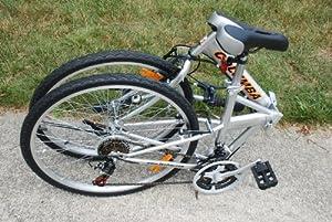 Columba 26 Folding Bike w. Shimano 18 Speed Silver (SP26S_SLV) by Columba