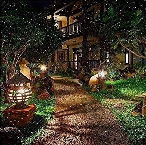 Waterproof Red & Green Dual maser Landscape Projector Light for Garden/Tree/Outdoor Wall Decoration And Christmas Holiday Decoration (Color: Red & Green)