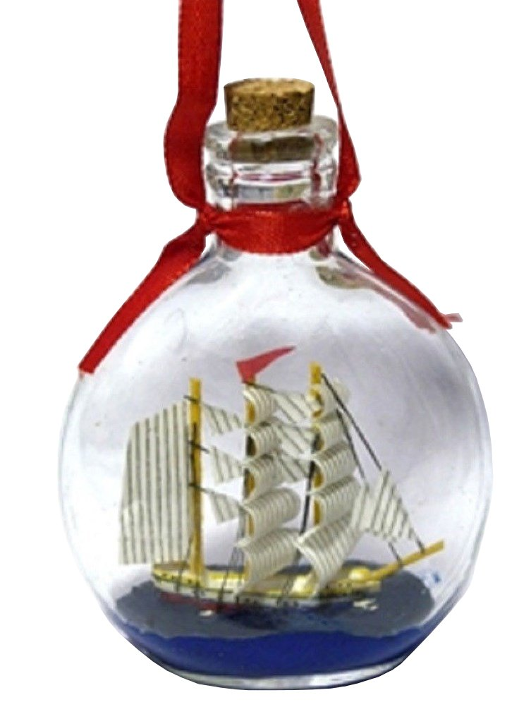 Boat in a Bottle Ornament - Make It a Nautical Holiday