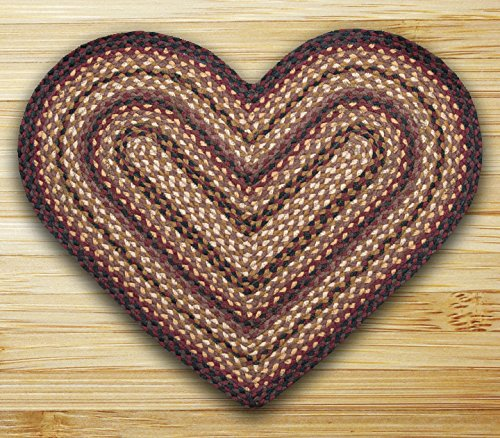 "Earth Rugs 10-371 Hc-371 Heart Shaped Rug, 20 by 30"", Black Cherry/Chocolate/Cream"