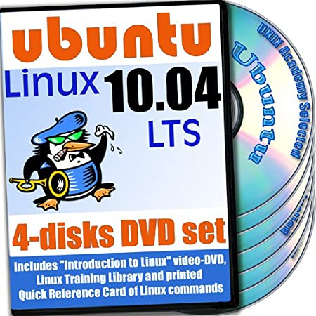 Ubuntu 10.04 LTS, 4-disks DVD Set