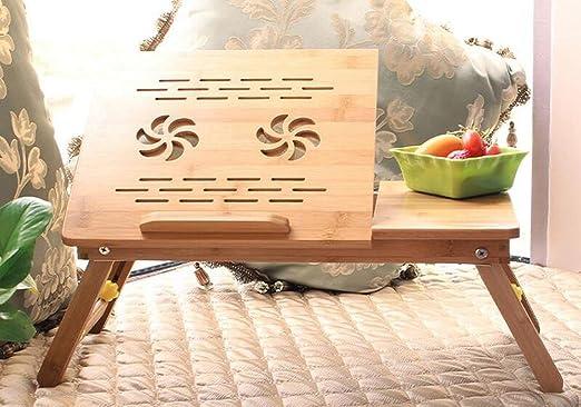 BBSLT Tavolo per PC portatile moda per letto, tavolo pieghevole semplice dormitorio per pigri