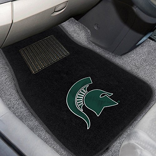 Fan Mats 17603 Michigan State University Spartans 2-pc Embroidered Car Mat Set (Michigan State Car Mats compare prices)