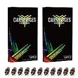 Dragonhawk 20Pcs Extreme Cartridges Disposable Tattoo Needle 9 Curved Magnum (9RM) (Tamaño: 9RM)