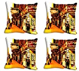 meSleep Yellow Man City Cushion Cover (12x12)