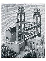 Artopweb Panel Decorativo Escher Waterfall,1961 - 42X53 cm Bordo Nero