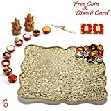 Aapno Rajasthan White Marble Incense Holder With Stones (15 Cm X 15 Cm X 10 Cm, Set Of 3)
