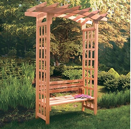 awardpedia arboria astoria 7 ft cedar pergola arbor. Black Bedroom Furniture Sets. Home Design Ideas