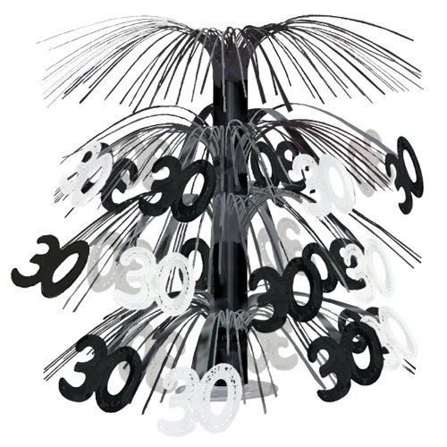 30 Cascade Centerpiece (black & silver) Party Accessory  (1 count) (1/Pkg)
