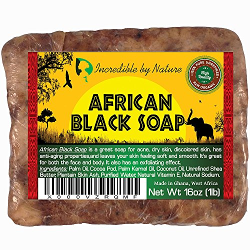#1 Best African Black Soap - 1lb (16oz) Raw Organic