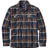 【正規取扱店製品】patagonia パタゴニア ロングスリーブフィヨルドフランネルシャツ男性用 54130 ブルーオックス:ネイビーブルー S