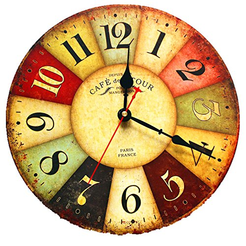 eiala-12-vintage-country-france-style-non-ticking-silent-antique-wood-wall-clock-12-multi-color