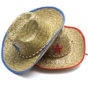Star Cowboy Hat - Accent Color either Red or Blue