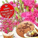 母の日ギフト 鉢花カーネーション 花とスイーツ 人気グルメギフト(ピンク色の生花)