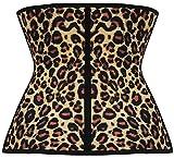 Fashion-Plus-Womens-Latex-Girdle-Waist-Trainer-Shaper-Corset-Shapewear-Leopard