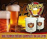Hoppy Doppio Fermentatore 30 Litri Birra Ermetico Gorgogliatore Rubinetto Termometro