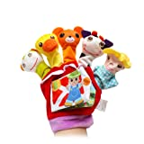 OVERMAL Toy Glove Animal Finger Puppets Cloth Doll Baby Educational Hand Cartoon Animal Toy (Color: B)