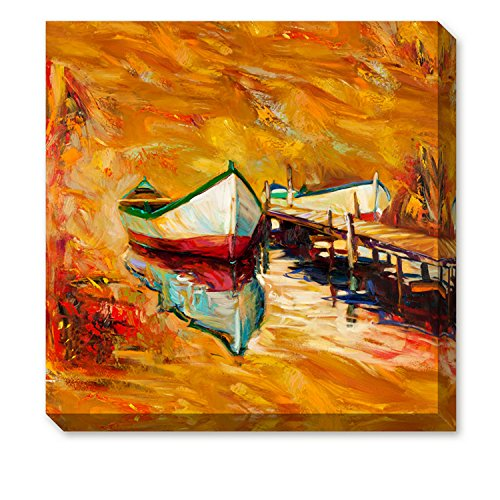 ArtKisser Modern Abstract Landscape Sailboat Paintings Wall Art Ocean Sunset Oil Paintings on Canvas Framed for Living Room Home Decoration 12