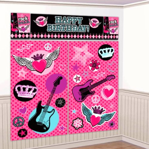 Princess Rocker Giant Scene Setter Wall Decorating Kit (5pc)