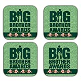 MeSleep Big Brother Wooden Coaster-Set Of 4