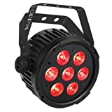Stage Lights, OPPSK 70W Super Bright Par Lights with RGBWA LED Par by DMX IR Remote Control Sound Activated for DJ Wedding Christmas New Year Party Stage Lighting (Color: 70W RGBWA 7LEDs Par Lights)