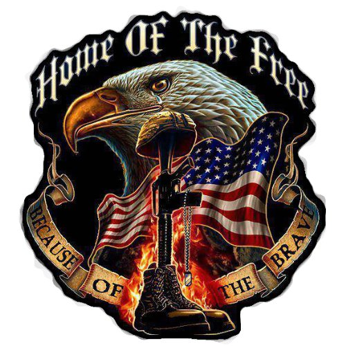 Home of the Free Because of the Brave Decal