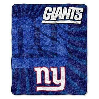 NFL New York Giants 50-Inch-by-60-Inch Sherpa on Sherpa Throw Blanket Strobe Design by Northwest