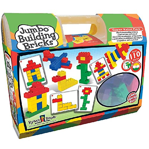 Small World Toys Ryan's Room Educational - Jumbo Building Bricks (110-Piece)