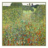 Art Nouveau Artist Gustav Klimt's The Poppy Meadow Counted Cross Stitch Chart/Graph