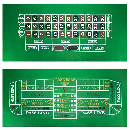 Craps and Roulette Table Felt by Brybelly (Felt Craps Table compare prices)
