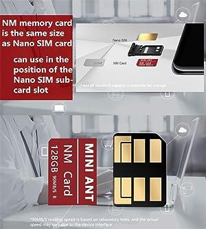 ThreeCat Mobile Phone Memory Card NM Card 128GB Original Nano Memory Card for Huawei P30 Mate 20 X Pro RS