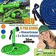 MAGIC Flexibler Gartenschlauch 30Meter - EXTRA-Stark + Wasserbrause + Quick- Adapter - Flexi Wasserschlauch- dehnbar 30 Meter GR�N- ultraleicht