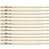 Vater Hickory 5B Wood Tip Drum Stick (6 Pair)