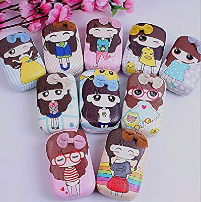 1 Piece Small girl Pattern Contact Lens Case Box Kit Set With Small Mirror Color in Random OFFICE-123