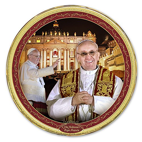 Pope Commemorative Collector Plate: His Holiness, Pope Francis by The Bradford Exchange