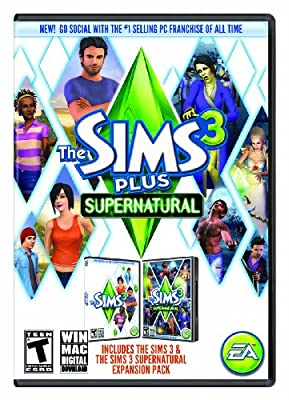 The Sims 3 Plus Supernatural (Mac) [Online Game Code]