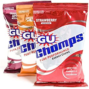 GU Chomps Energy Chews - Single Pack (Flavor=Strawberry)