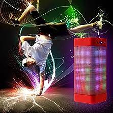 buy Agptek® Portable Original Pulse Wireless Speaker Hansfree Bluetooth Stereo Speaker For Iphone 6 Plus/6/5S/5, Ipad, Samsung Galaxy, Htc, Sony - Red