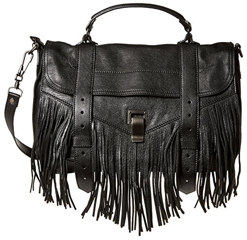 Proenza-Schouler-Womens-Fringe-Medium-Satchel-Black