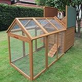 Chicken Coops Imperial Grand poulailler avec cage de 1,4 m pour 4 à 6 poules avec pondoirs individuels et plateau facile à nettoyer