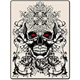 TSlook 50x80 Blankets Funny Classic Retro Skeleton Pattern Comfy Funny Bed Blanket